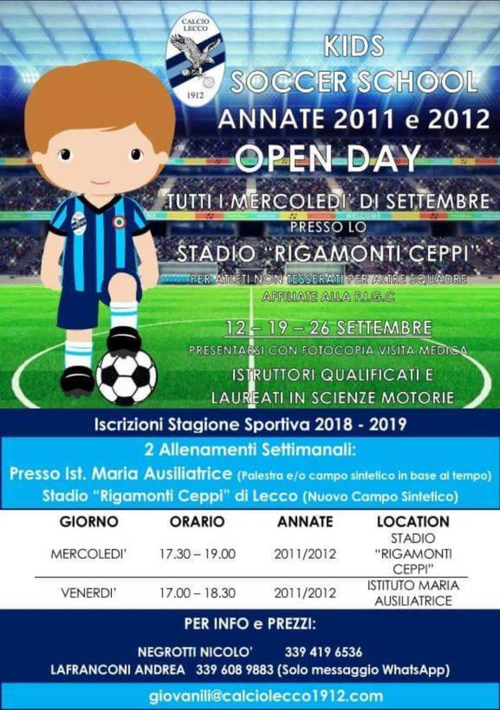 Kids Soccer School Annate 2011 e 2012 per la stagione sportiva 2018/19