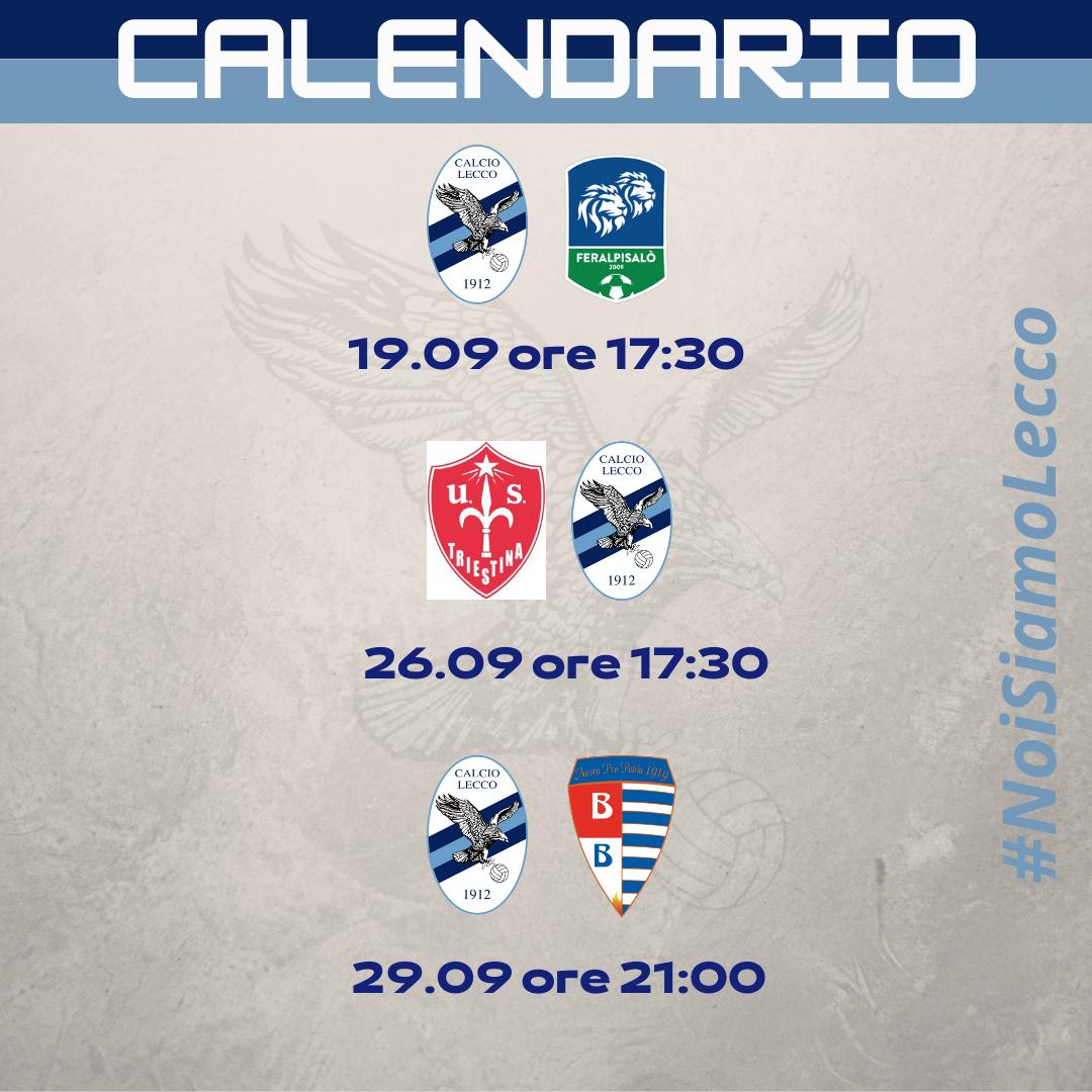 Il programma dalla 4° alla 6° giornata del girone A di Serie C 2021-2022!